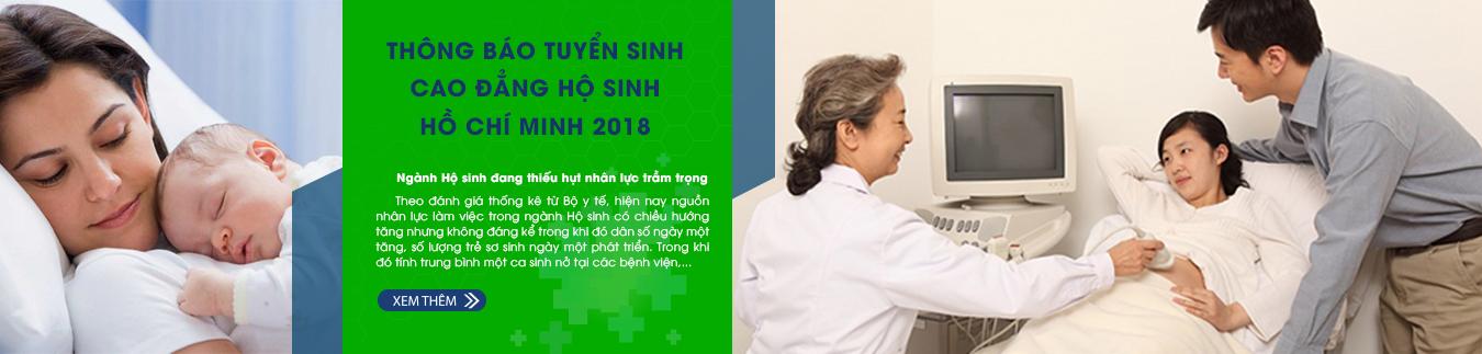 Thông báo tuyển sinh cao đẳng hộ sinh Hồ Chí Minh 2018