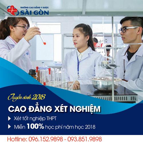 Thông báo tuyển sinh Cao đẳng Xét nghiệm TPHCM năm 2018