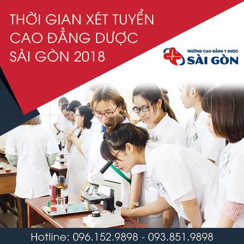 Thời gian xét tuyển Cao đẳng Xét nghiệm TPHCM năm 2018