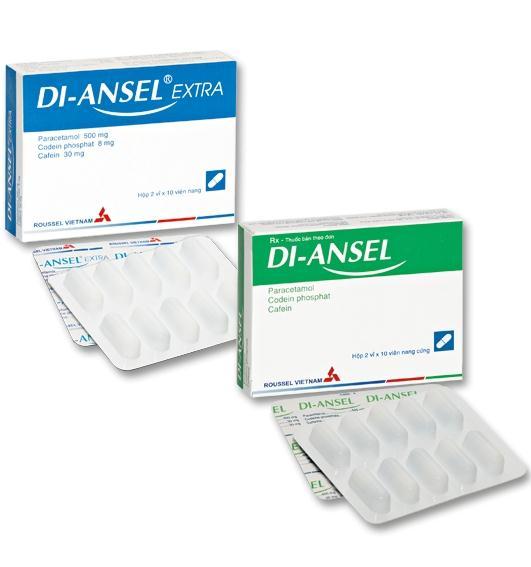Di – Ansel Extra® - Thông tin về liều dùng tương ứng của thuốc 2