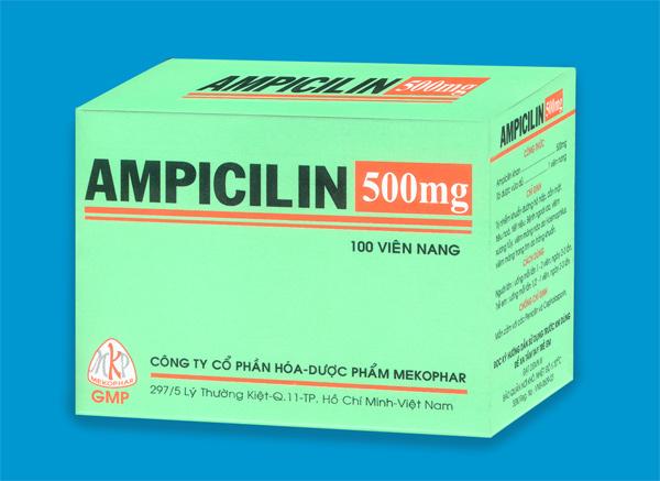 Tổng quan thông tin về thuốc ampicillin 500mg - Công dụng và liều dùng 1