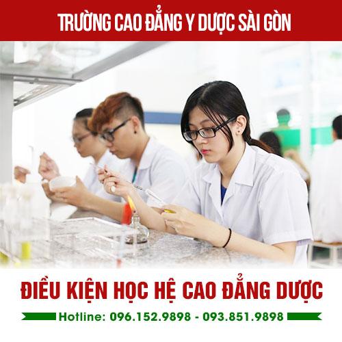 Điều kiện học Cao đẳng Dược
