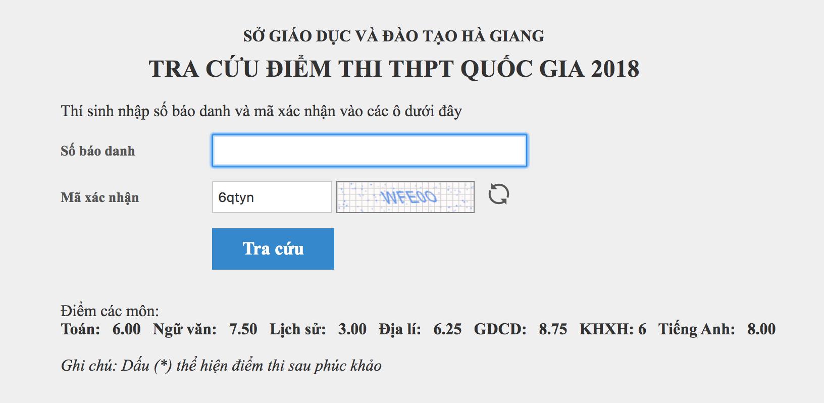 MỚI: Con em lãnh đạo tỉnh Hà Giang được nâng 5 điểm 1