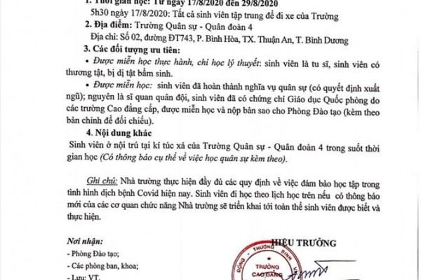 truong-cao-dang-y-duoc-sai-gon-thong-bao-lich-hoc-mon-giao-duc-quoc-phong-cua-sinh-vien-nam-nhat-khoa-2019-2022