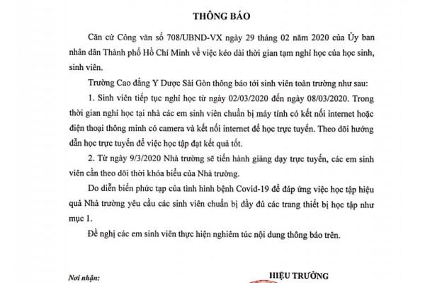truong-cdyd-sai-gon-thong-bao-tiep-tuc-nghi-hoc-tu-0203-den-0803